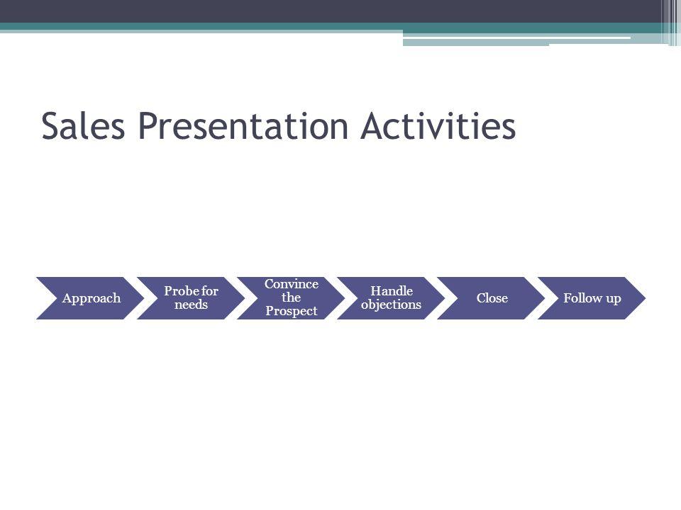 Sales Presentation Activities