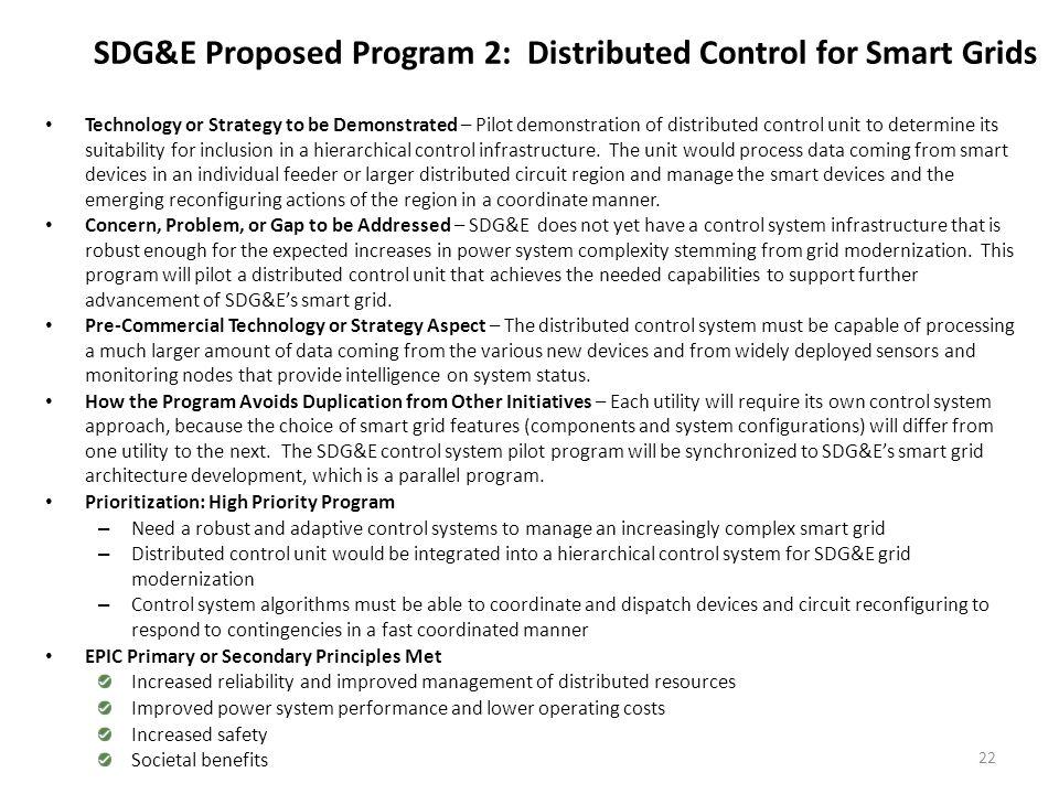 SDG&E Proposed Program 3: Smart Distribution Circuit