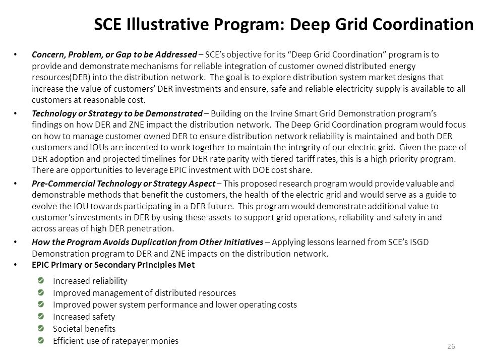 SCE Illustrative Program: Distribution Energy Storage (DES)