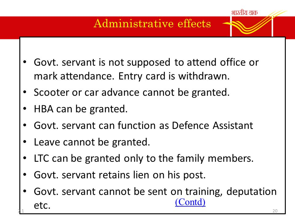 Administrative effects