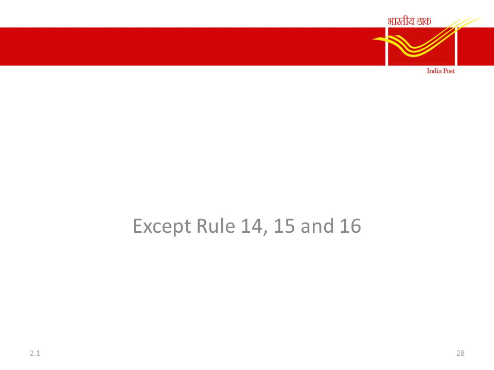 Rule 11 to 31 of CCS CCA Rule Except Rule 14, 15 and 16 2.1