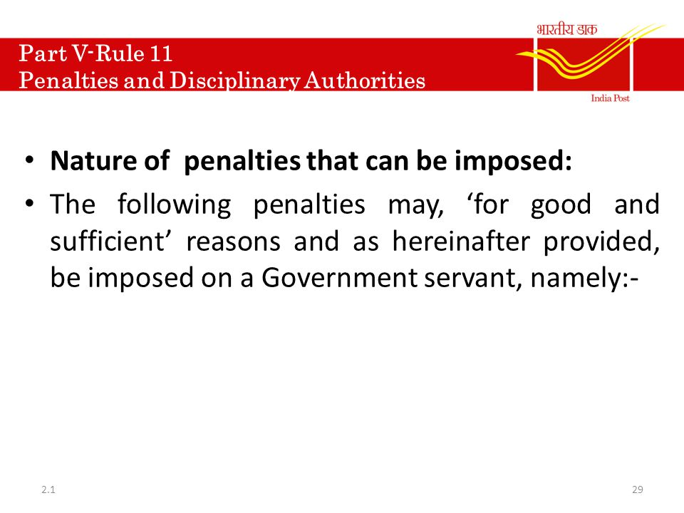 Part V-Rule 11 Penalties and Disciplinary Authorities