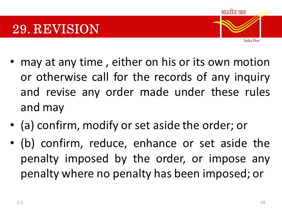 (a) confirm, modify or set aside the order; or