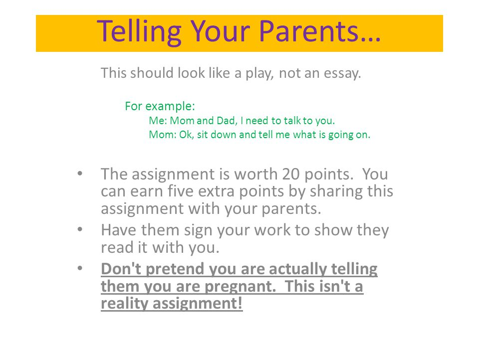 Essay on your parents