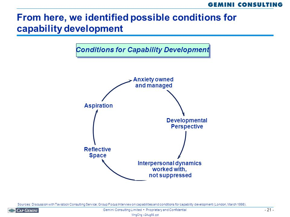 Conditions for Capability Development