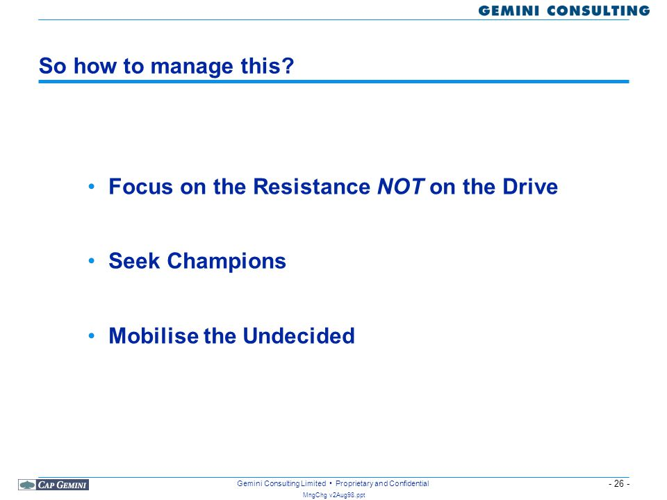 So how to manage this. Focus on the Resistance NOT on the Drive.