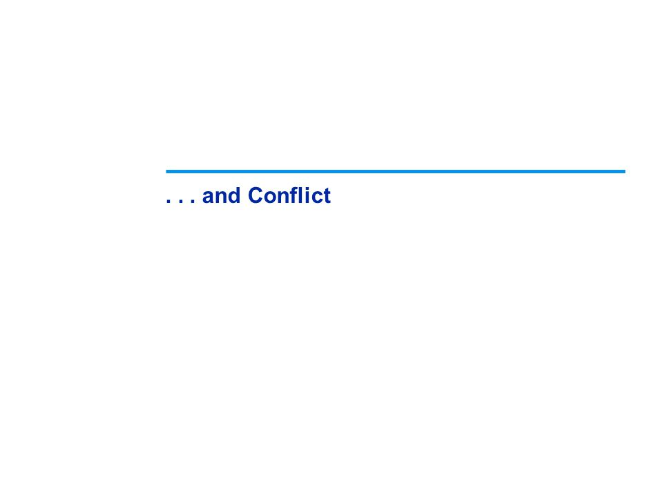 . . . and Conflict