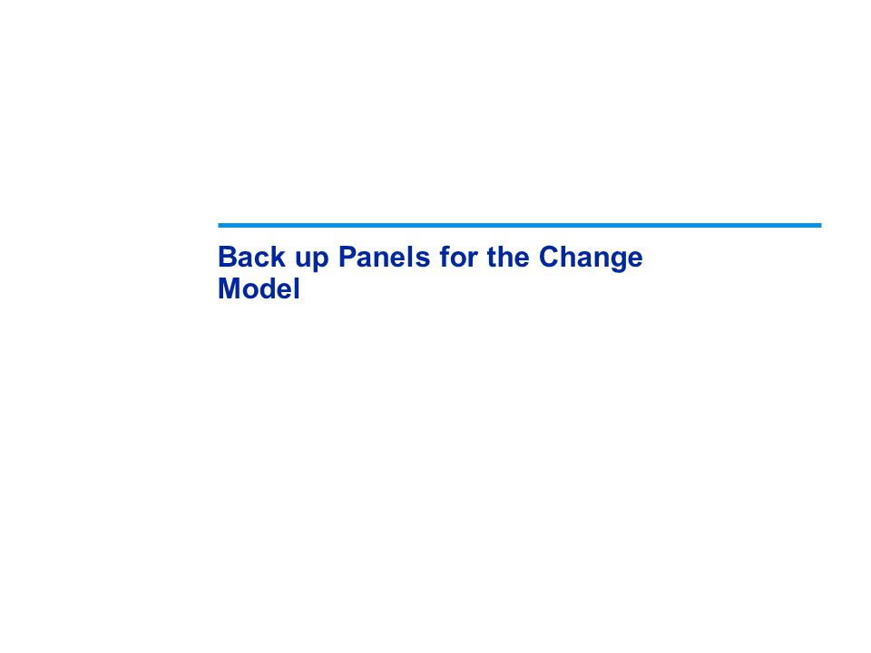 Back up Panels for the Change Model