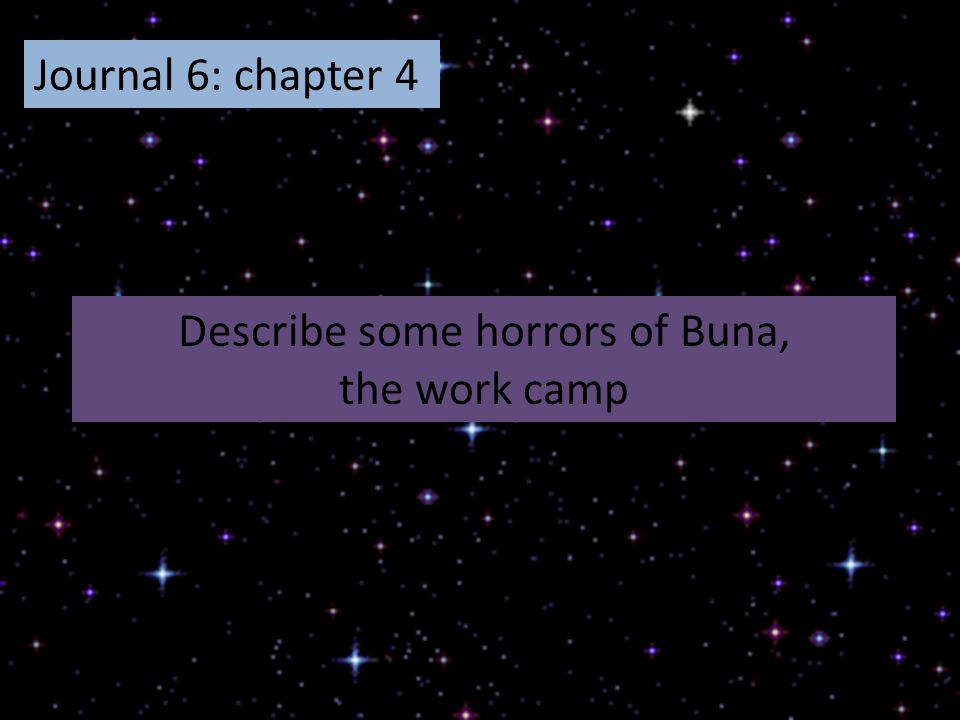Describe some horrors of Buna,