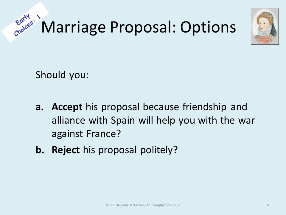 Marriage Proposal: Options