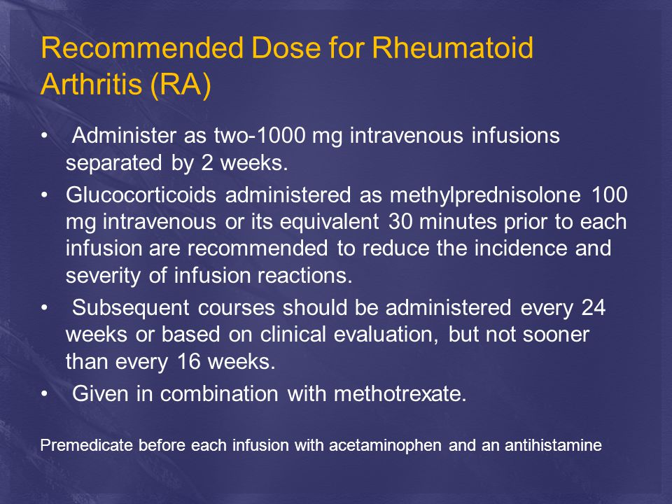 Recommended Dose for Rheumatoid Arthritis (RA)