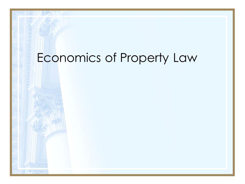 Economics of Property Law