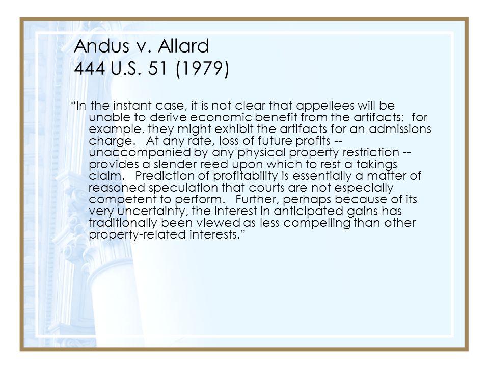 Andus v. Allard 444 U.S. 51 (1979)