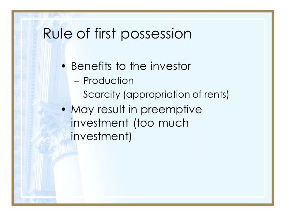 Rule of first possession