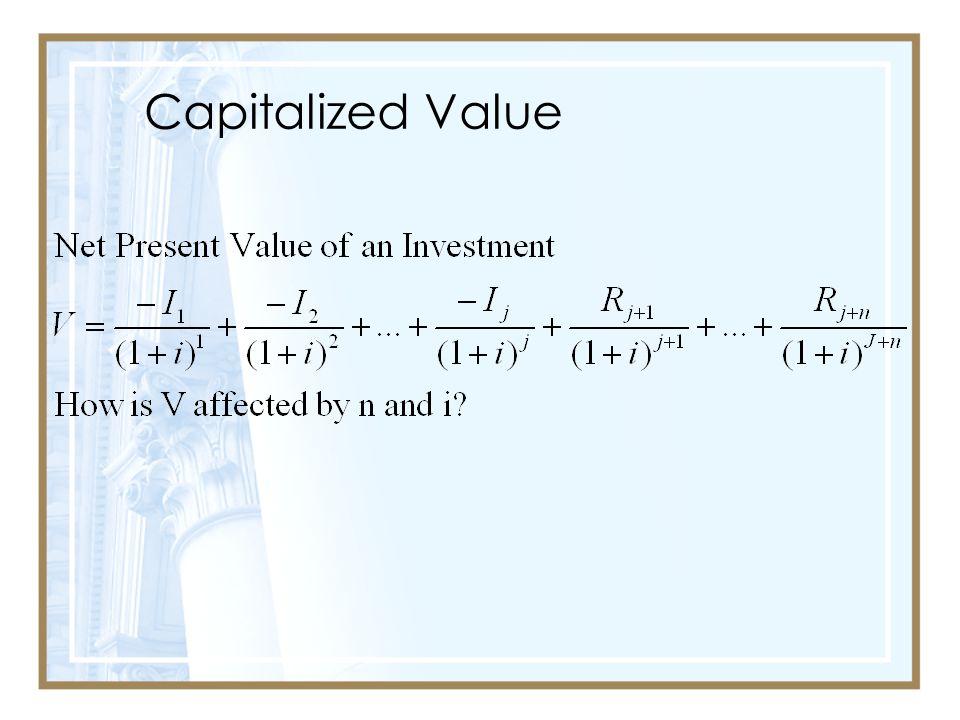 Capitalized Value