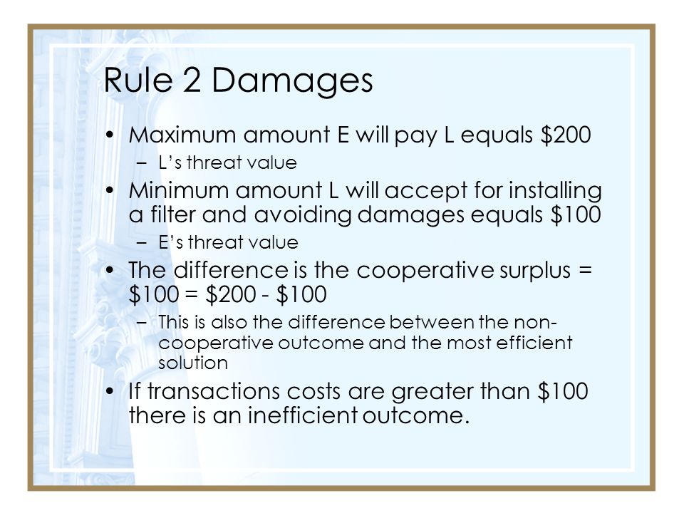 Rule 2 Damages Maximum amount E will pay L equals $200