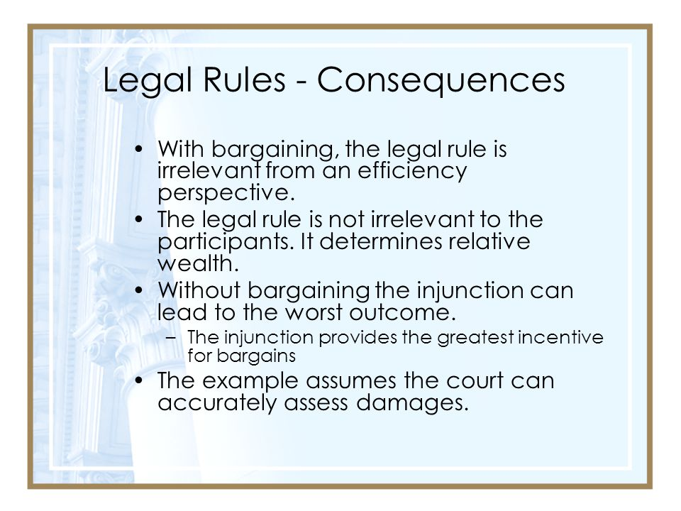 Legal Rules - Consequences