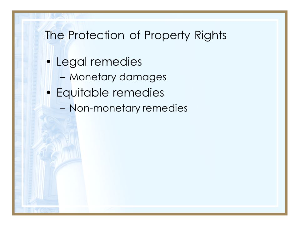 The Protection of Property Rights
