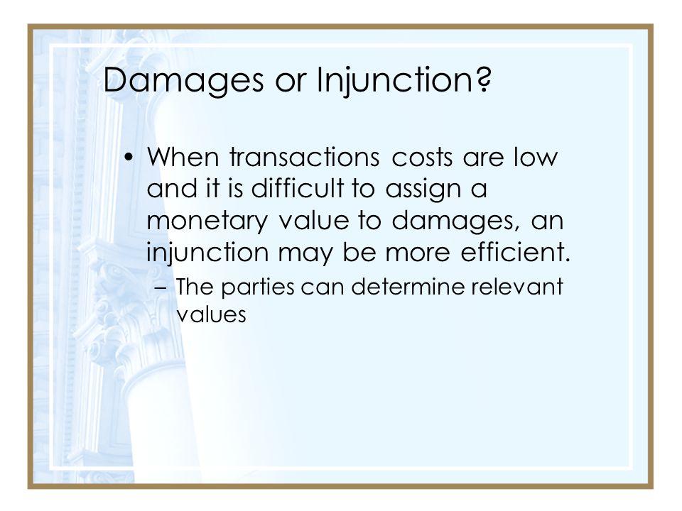 Damages or Injunction