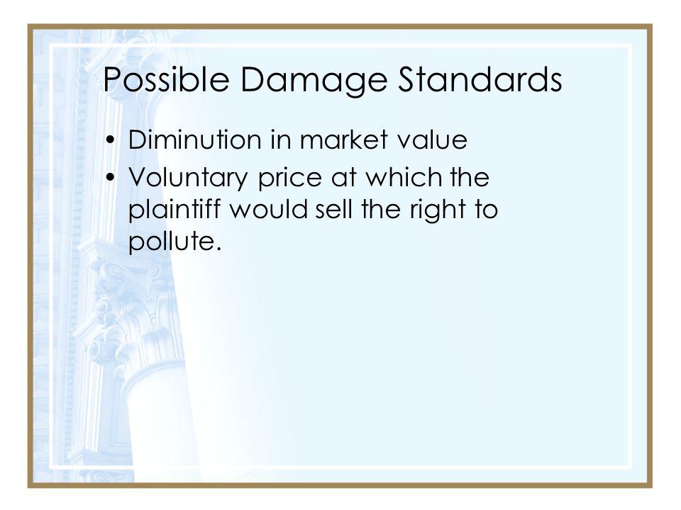 Possible Damage Standards
