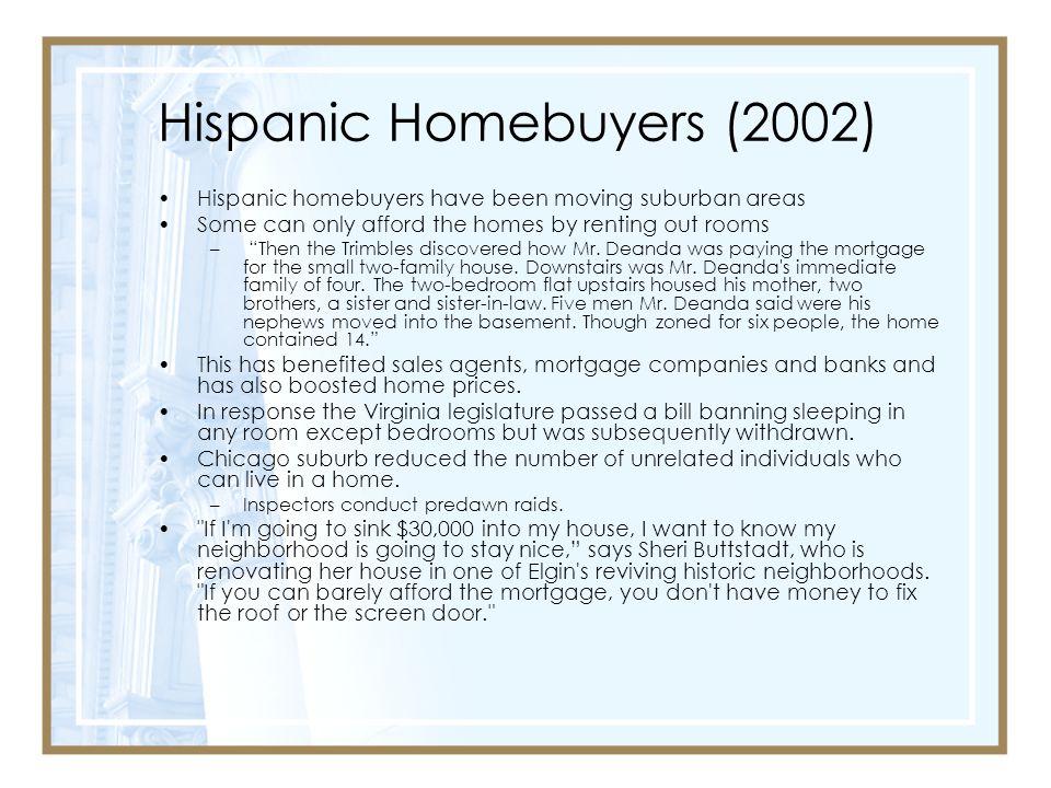Hispanic Homebuyers (2002)