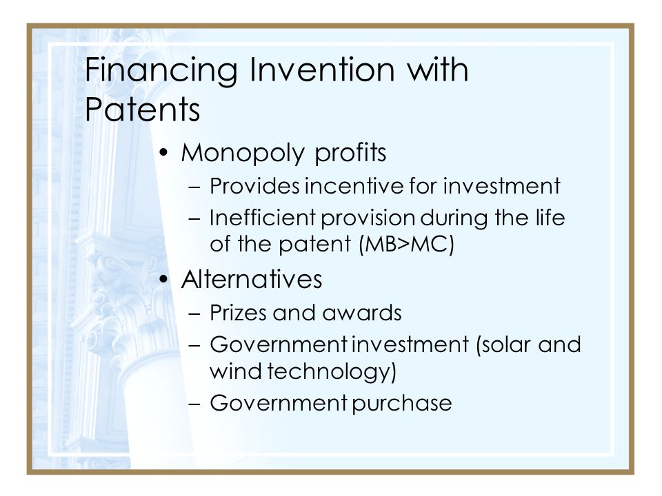 Financing Invention with Patents