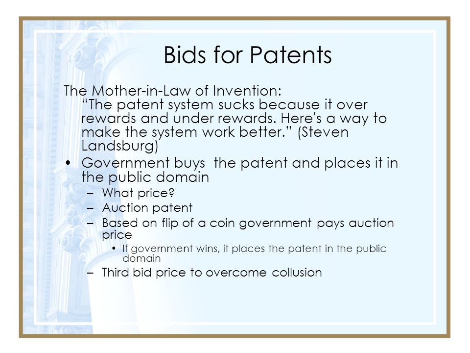 Bids for Patents
