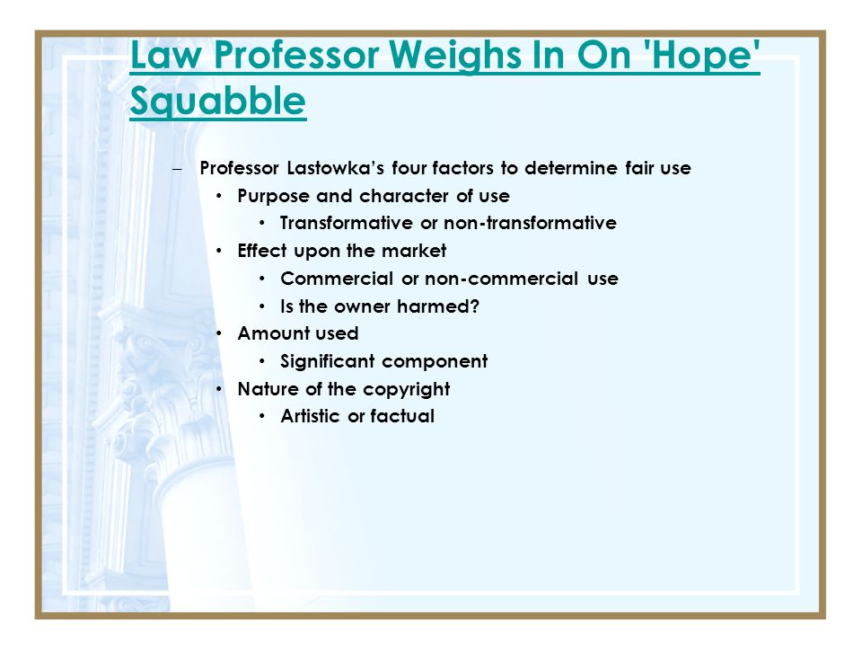 Law Professor Weighs In On Hope Squabble