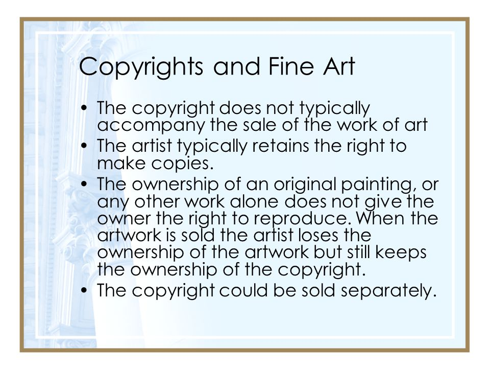 Copyrights and Fine Art