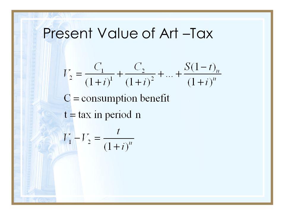 Present Value of Art –Tax
