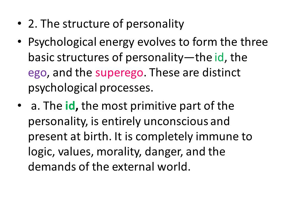 2. The structure of personality