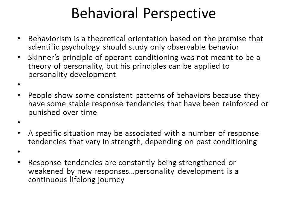 Behavioral Perspective