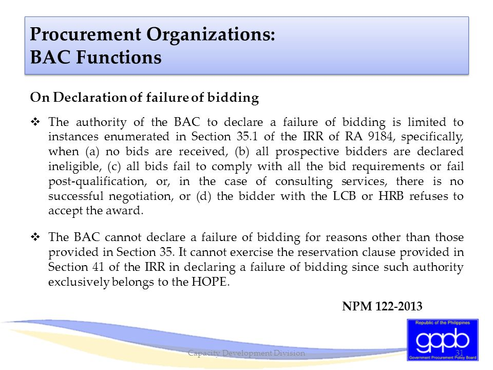 Capacity Development Division