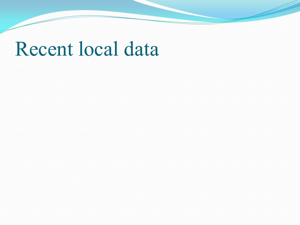 Recent local data