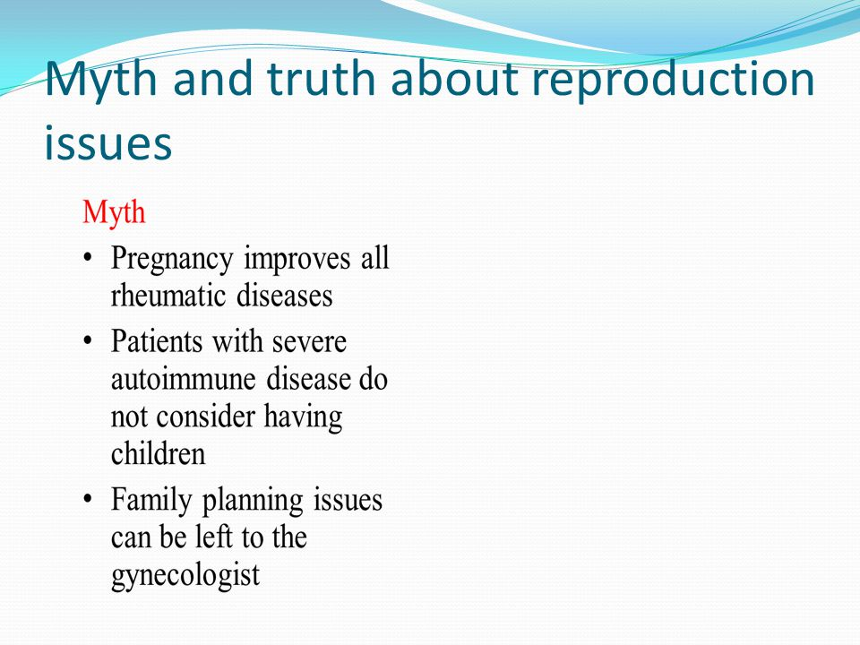 Myth and truth about reproduction issues