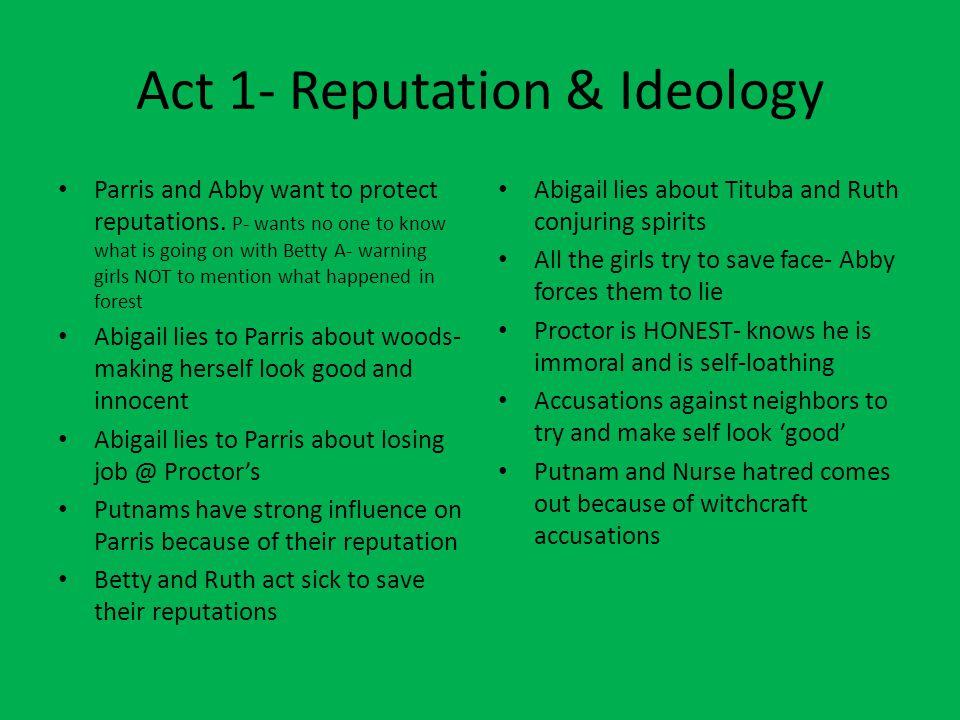 Act 1- Reputation & Ideology