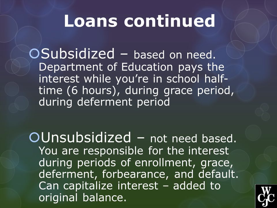Loans continued