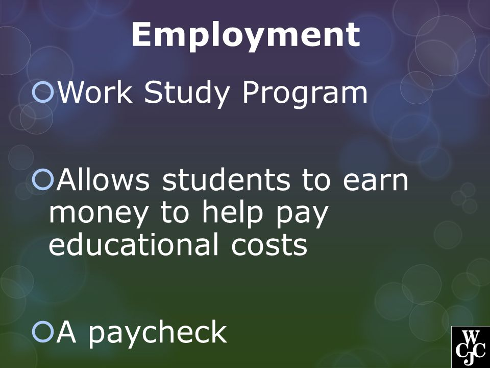 Employment Work Study Program