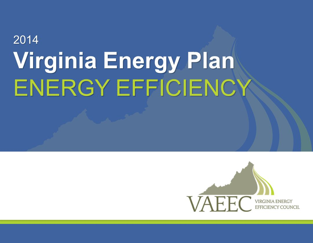 2014 Virginia Energy Plan Energy Efficiency