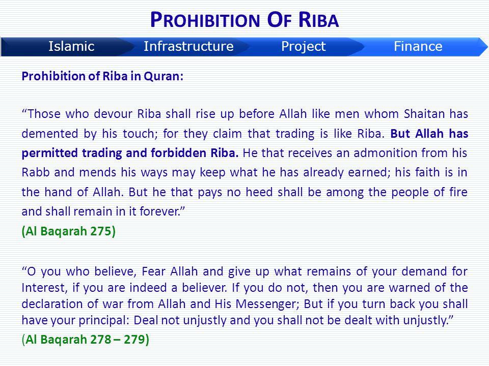 Prohibition Of Riba Prohibition of Riba in Quran: