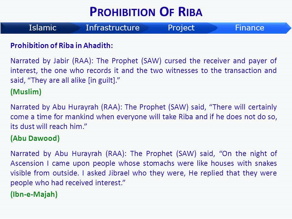 Prohibition Of Riba Prohibition of Riba in Ahadith: