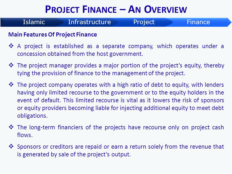 Project Finance – An Overview