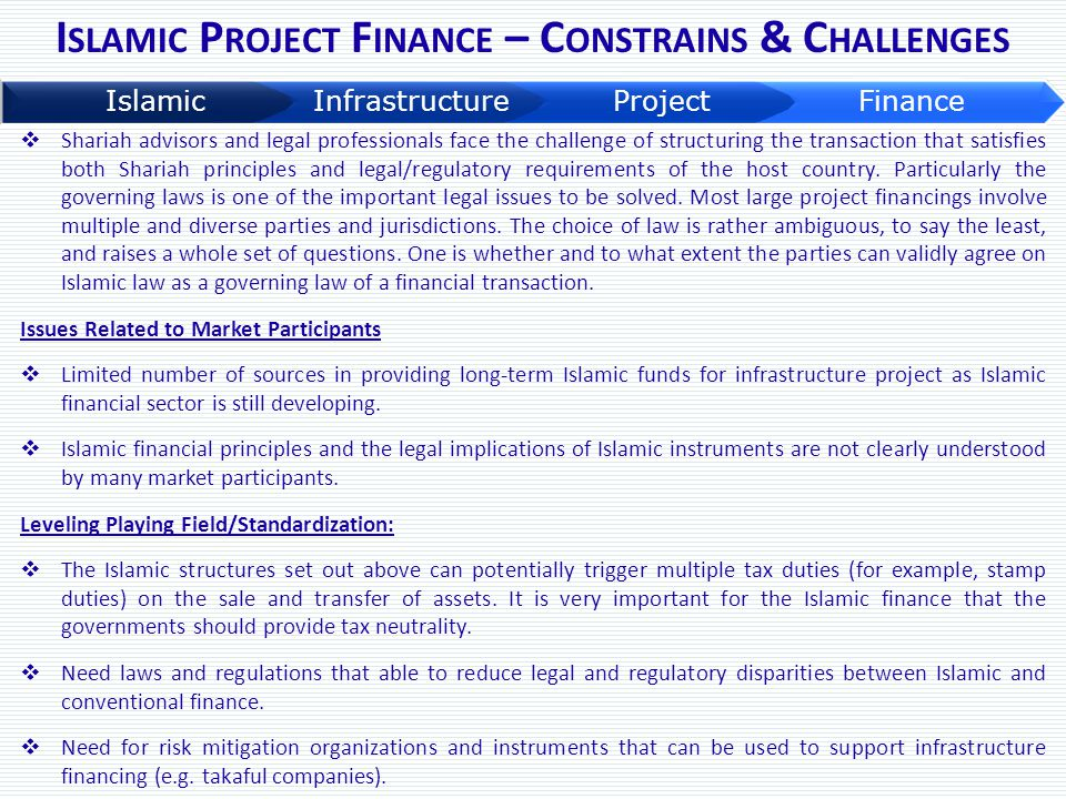 Islamic Project Finance – Constrains & Challenges