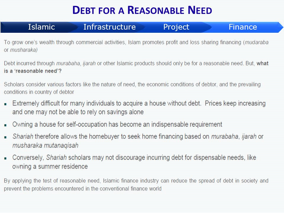 Debt for a Reasonable Need