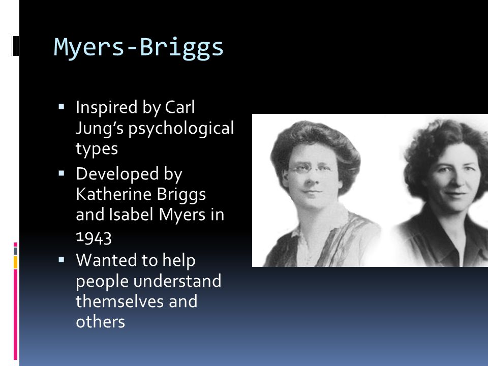 Myers-Briggs Inspired by Carl Jung's psychological types