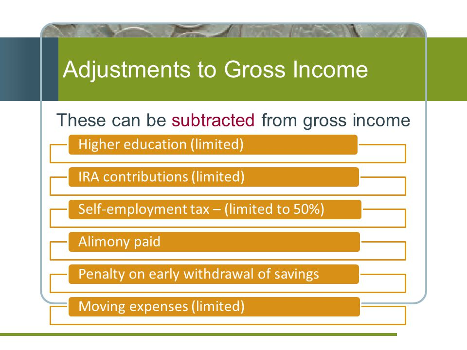 Adjustments to Gross Income