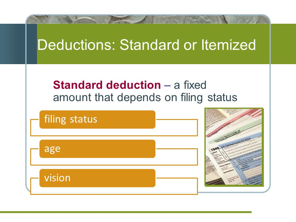Deductions: Standard or Itemized