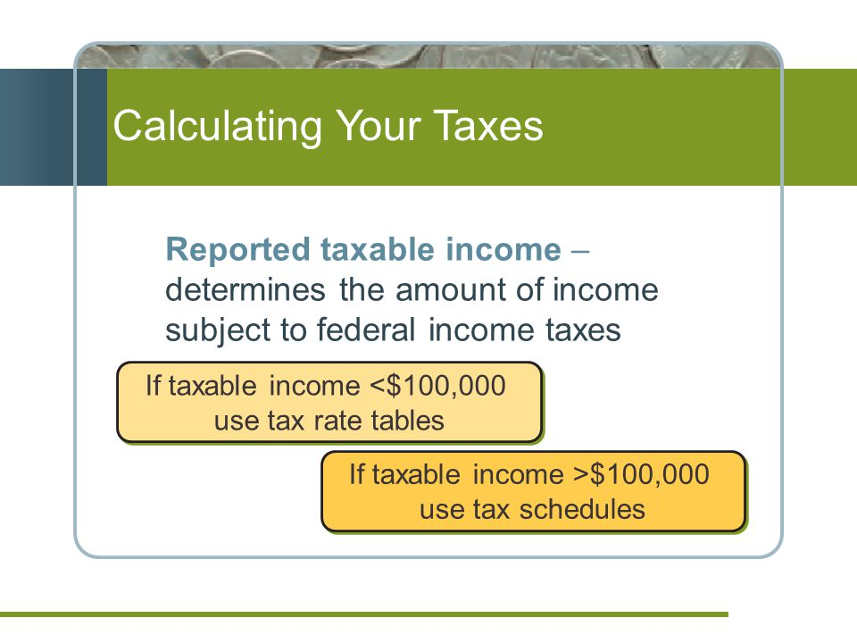 Calculating Your Taxes