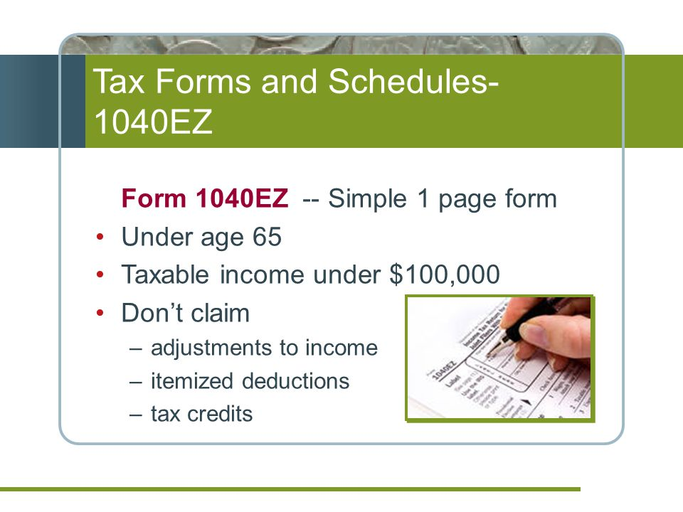 Tax Forms and Schedules-1040EZ