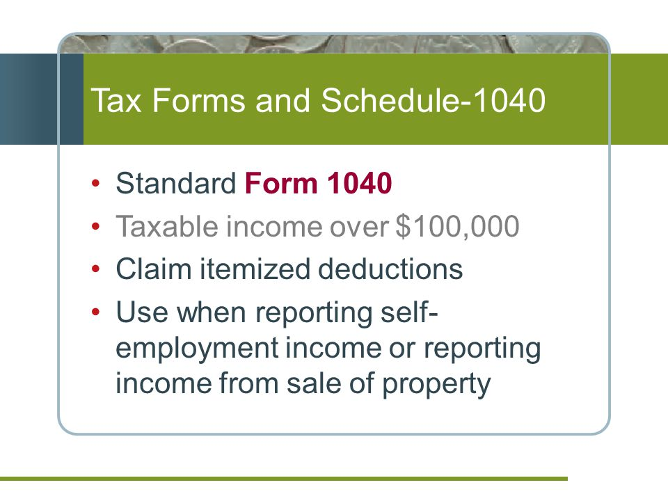 Tax Forms and Schedule-1040